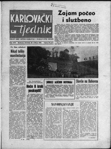 Karlovački tjednik: 1968 • 21