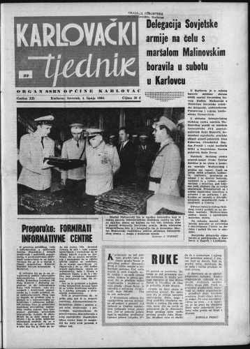 Karlovački tjednik: 1964 • 22