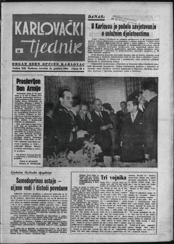 Karlovački tjednik: 1964 • 51