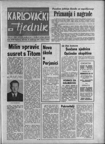 Karlovački tjednik: 1970 • 45