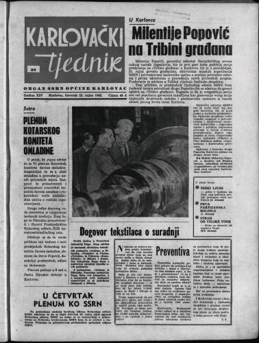Karlovački tjednik: 1965 • 38