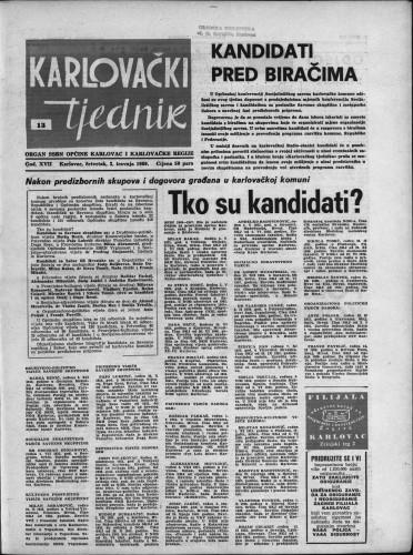 Karlovački tjednik: 1969 • 13