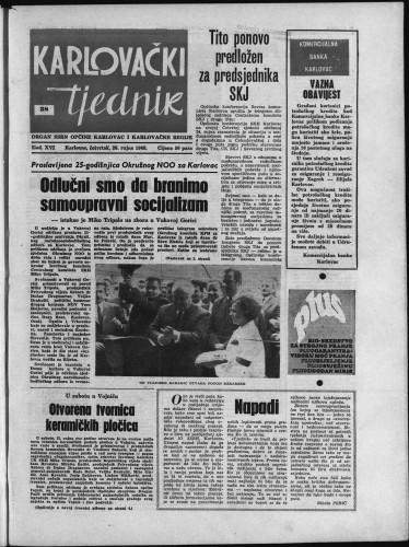 Karlovački tjednik: 1968 • 38