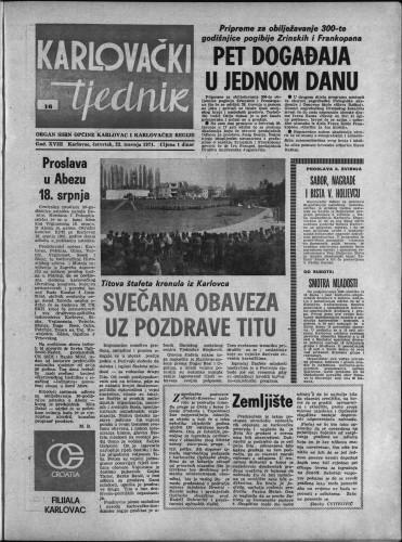 Karlovački tjednik: 1971 • 16