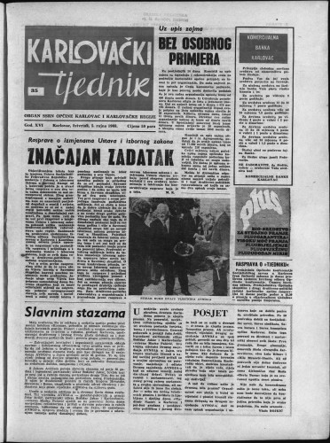 Karlovački tjednik: 1968 • 35