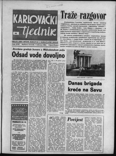 Karlovački tjednik: 1969 • 31
