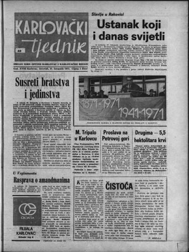 Karlovački tjednik: 1971 • 42