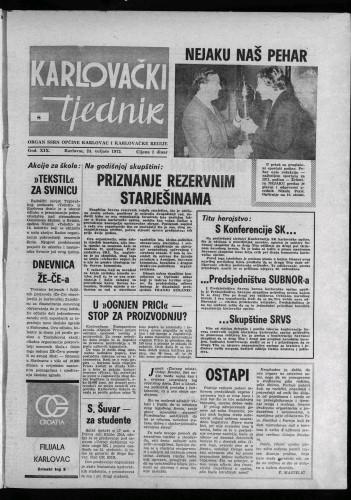 Karlovački tjednik: 1972 • 8