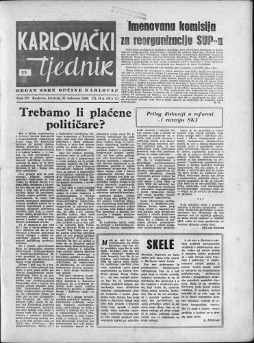 Karlovački tjednik: 1966 • 33