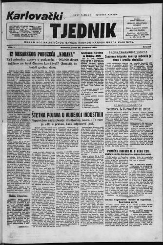 Karlovački tjednik: 1953 • 26
