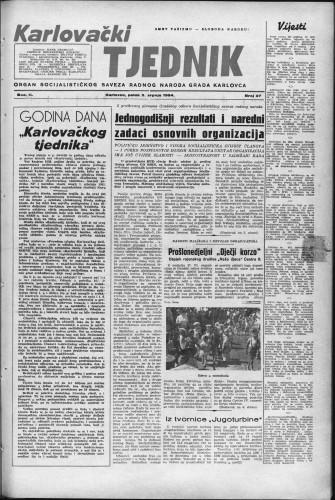 Karlovački tjednik: 1954 • 27