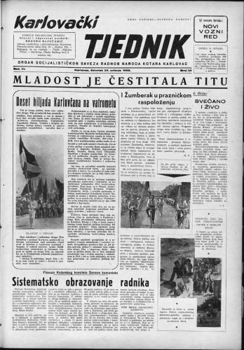 Karlovački tjednik: 1958 • 22