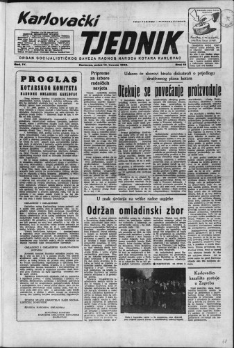 Karlovački tjednik: 1956 • 15