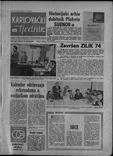 Karlovački tjednik: 1974 • 5