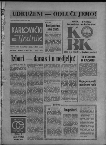 Karlovački tjednik: 1974 • 12
