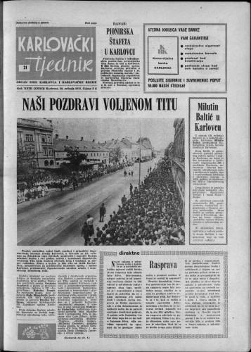 Karlovački tjednik: 1976 • 21