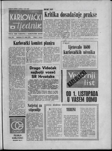 Karlovački tjednik: 1973 • 39