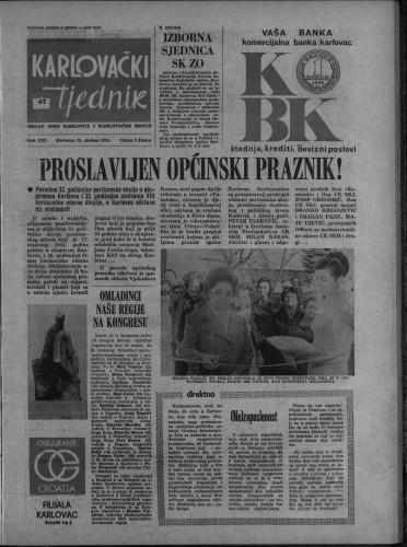 Karlovački tjednik: 1974 • 47