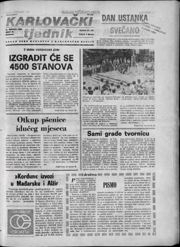 Karlovački tjednik: 1980 • 30