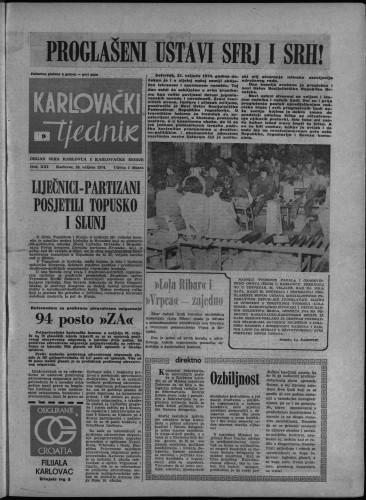 Karlovački tjednik: 1974 • 9