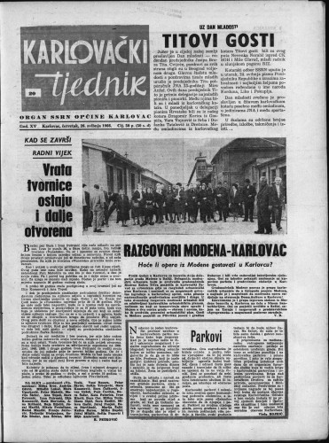 Karlovački tjednik: 1966 • 20