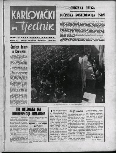 Karlovački tjednik: 1965 • 20