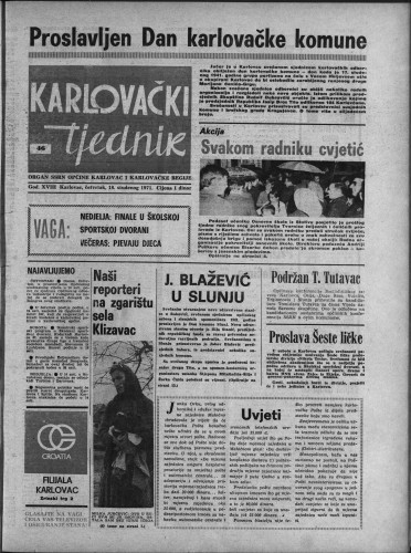 Karlovački tjednik: 1971 • 46