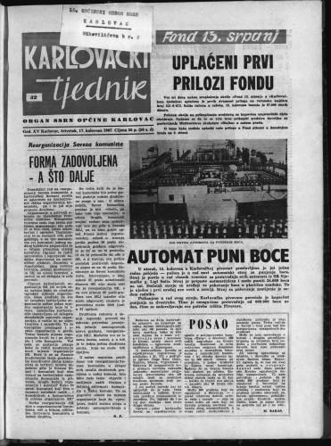 Karlovački tjednik: 1967 • 32