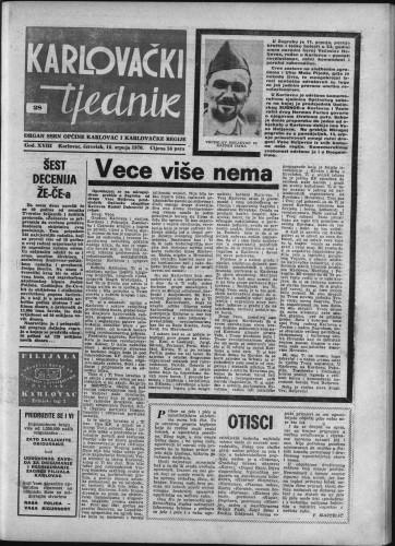 Karlovački tjednik: 1970 • 28