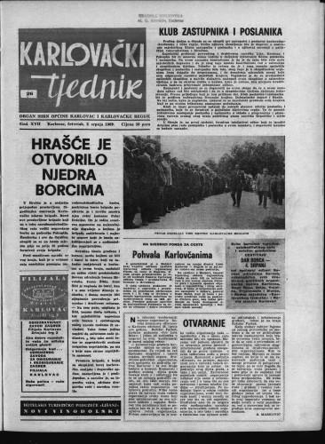 Karlovački tjednik: 1969 • 26