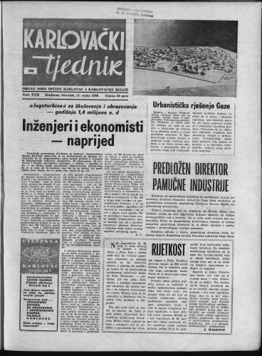 Karlovački tjednik: 1969 • 36