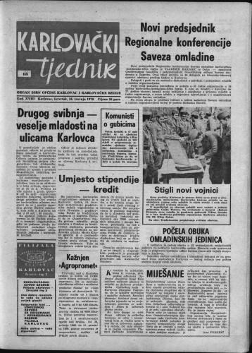 Karlovački tjednik: 1970 • 15