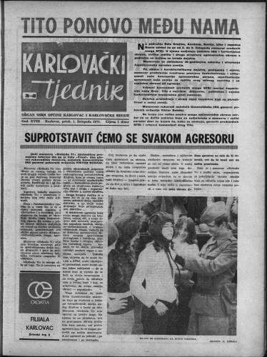 Karlovački tjednik: 1971 • 39