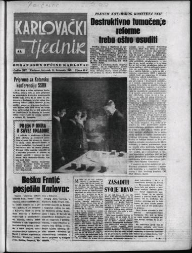 Karlovački tjednik: 1965 • 41