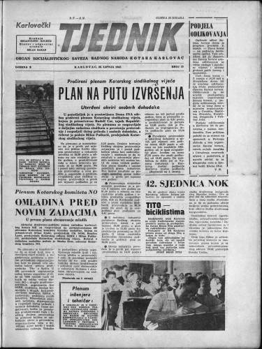 Karlovački tjednik: 1962 • 25