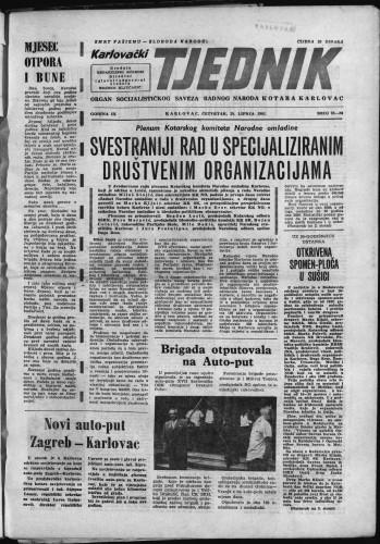 Karlovački tjednik: 1961 • 25