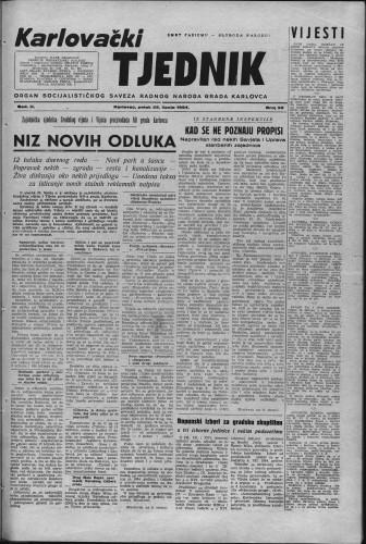 Karlovački tjednik: 1954 • 26