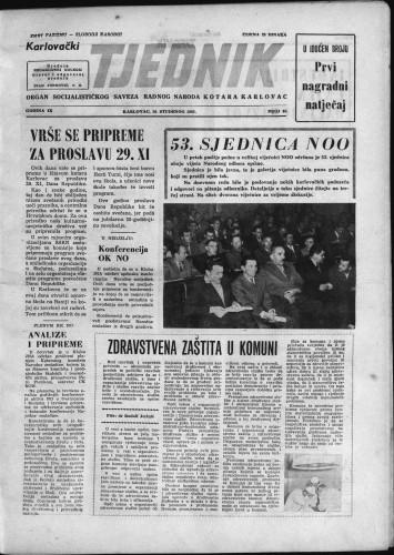 Karlovački tjednik: 1961 • 45