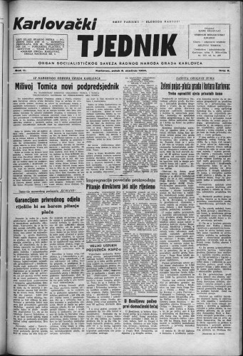 Karlovački tjednik: 1954 • 2