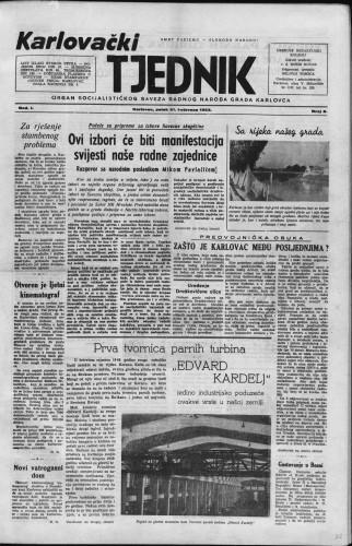Karlovački tjednik: 1953 • 8