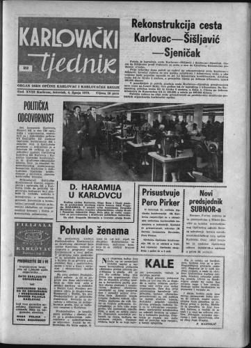 Karlovački tjednik: 1970 • 22