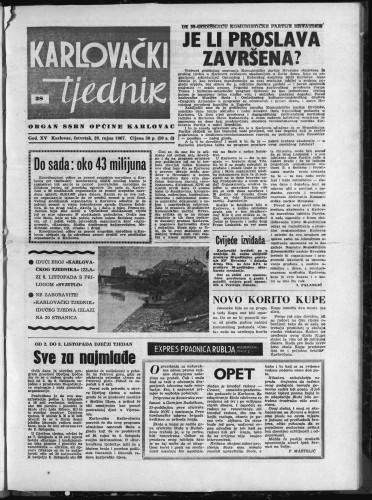 Karlovački tjednik: 1967 • 38