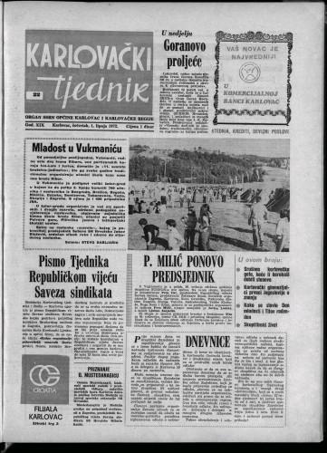 Karlovački tjednik: 1972 • 22