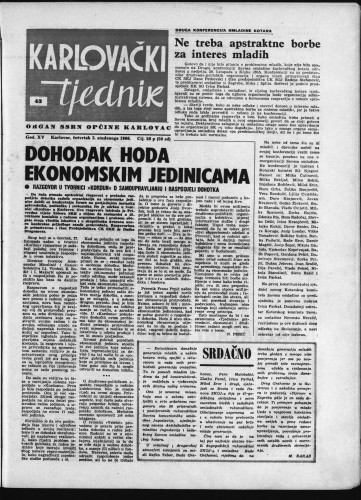 Karlovački tjednik: 1966 • 43