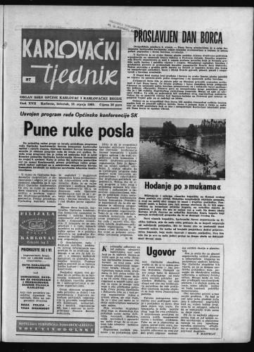 Karlovački tjednik: 1969 • 27