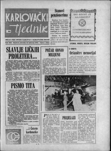 Karlovački tjednik: 1972 • 34