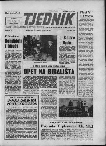 Karlovački tjednik: 1963 • 22
