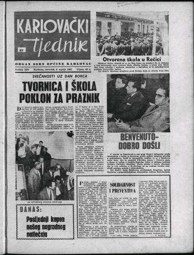 Karlovački tjednik: 1965 • 27