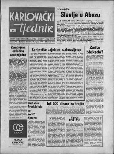 Karlovački tjednik: 1971 • 28