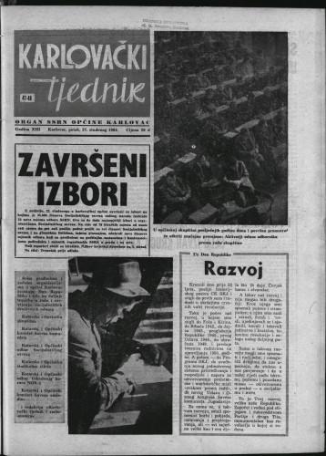 Karlovački tjednik: 1964 • 47